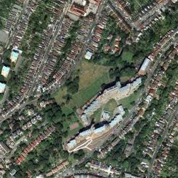 Dawsons Hill, London SE22 - aerial photograph